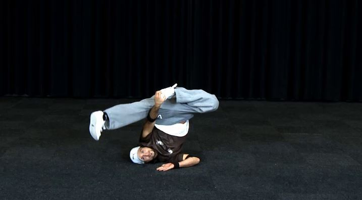 Breakdance Freeze 04 Schulter Clip 545